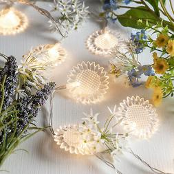 Battery Operated Sunflower Indoor Fairy String Lights with 1