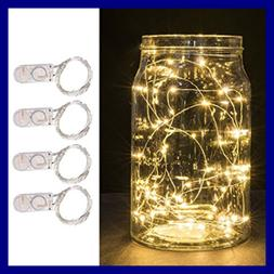 Battery Powered 20LED 6.5Ft Copper Wire String Lights Rope F