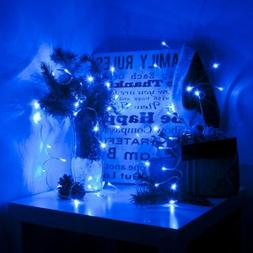 battery string lights christmas holiday blue color