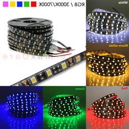 Black PCB 5050 LED Strip Light 300LED RGB Solid Color for Ca