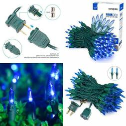 Blue Christmas Lights 33Ft 100 LED String 120V UL Certified