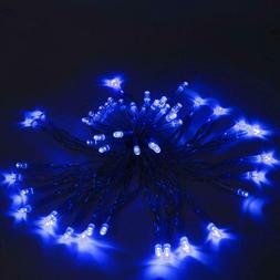ALEKO Blue String Lights Solar Powered Party Holiday Decorat