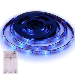 Blue LED Strip Lights - 2018 New Design Battery Powered LED