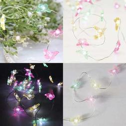 Butterfly 10 Ft 40 LED Copper Wire String Lights For Anniver