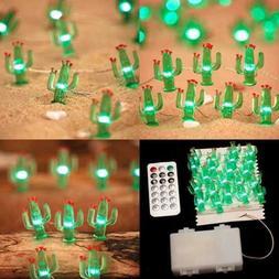 Cactus Succulents String Lights Decoration 10Ft 40Leds Cacti
