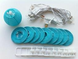 """CHINESE JAPANESE BLUE COLOR PAPER LANTERN STRING LIGHTS 3"""""""