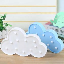 Christmas 3D Cloud LED Night Light Wall Lamp Nursery Baby Ki