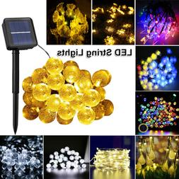 Christmas LED Solar String Lights Wedding Xmas Fairy Party O