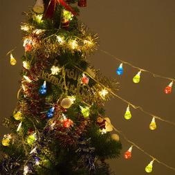 Christmas LED String Ball Lights Xmas Wedding Party Decor La