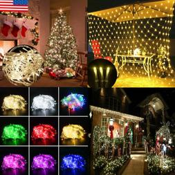 Christmas LED String Fairy Lights Clear Wires Party Wedding