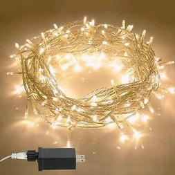 Aluan Christmas Lights String Lights 100 LED 33ft+10ft 8 Mod
