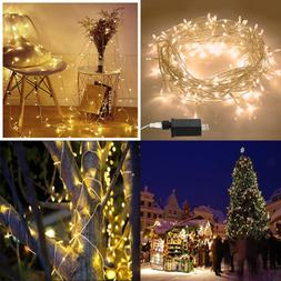 Christmas Lights String 100 LED 33Ft+10Ft 8 Modes Plug In In