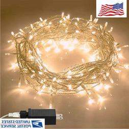 Christmas Lights String Lights 8 Modes Plug in Indoor String