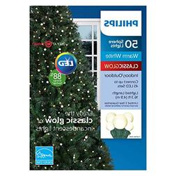 Philips 50ct Christmas LED Smooth Sphere String Lights Warm