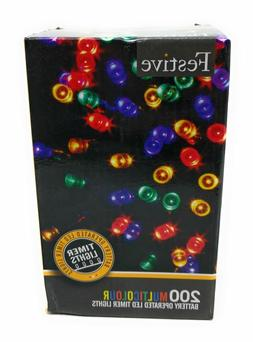 Festive Christmas  String Lights, Battery Operated Timer LED