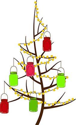 Christmas Tree Holiday Festive Decorations Cartoon Vinyl Sti