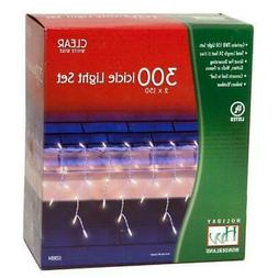Holiday Wonderland 300-Count Clear Christmas Icicle Light Se