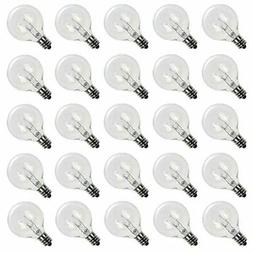 Brightown Clear Globe G40 Screw Base Light Bulbs, 1.5-Inch,