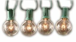 Sival Clear Globe String Lights Set of 25 G40 Bulbs, Perfect