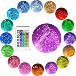 Color Changing 10m LED battery Fairy String Lights Copper Wi
