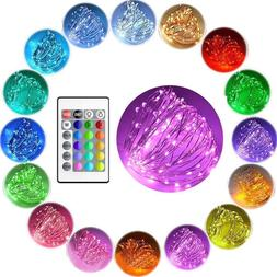 Color Changing 10m LED USB Fairy String Lights rgb silver Wi