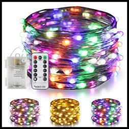 Color Changing Battery Operated Fairy Lights 33Ft 100 LED 8