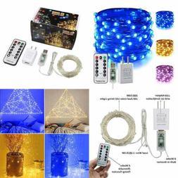 Color Changing Fairy Lights Plug In 33Ft 100 LED USB String