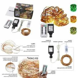 Color Changing LED String Lights Plug In W Remote 39.5Ft 100