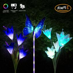 Color-Changing Solar LED Butterfly Fairy String Light Lamp O