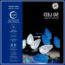 GE Color Choice 50-Count LED Blue/Cool White C9 Dual Color S