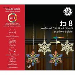 GE Color Choice 8-Ct Color Changing Multicolor Snowflake LED