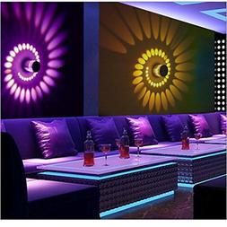 YJYdada Colorful RGB Spiral Hole Wall Lamp Surface Install L