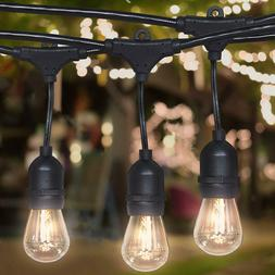 48FT Outdoor Commercial Globe Patio Vintage String Lights 16
