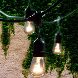 Lemontec Commercial Grade Outdoor String Lights with 15 Hang