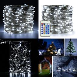 Cool WHITE Fairy Lights Plug In 99Ft 300 LED Starry String D