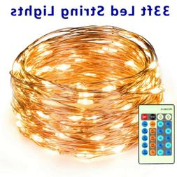 Copper Wire LED String Lights Strip Waterproof Dimmable Fair