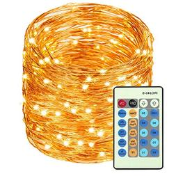 LED Copper Wire Lights 99ft/30m 300 LED Light String Dimmabl