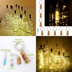 Cork Led Lights For Wine Bottle Battery Operated 8 Pack SILV