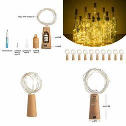 Cork Lights 10 Pack Of 20 LED For Wine Bottle Battery Operat