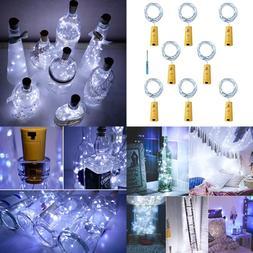Cork Lights For Wine Bottles Bottle SILVER Wire 6.3Ft 20 Led