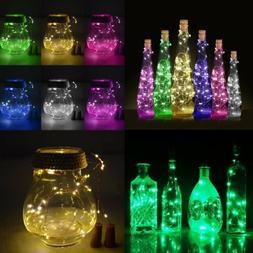 Cork Shaped 15 LED Night Light Starry Lights Wine Bottle Lam