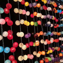 Cotton Ball String Lights for Bedroom Christmas Wedding Gift