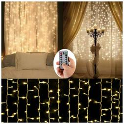 Curtain String Lights Battery Operated For Outdoor Wedding C