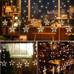 DIKLA Curtain String Lights for Bedroom with Hook Indoor Led