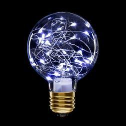Darice CVL™ G80 Globe Light Bulbs with Moonlights: Clear G