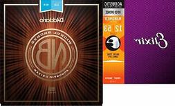 D'Addario NB1253 Nickel Bronze Acoustic Strings .012-.053 Li