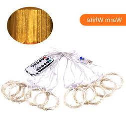 D C 5 V 5 W 300 L-EDs Fairy Curtain Light S-tring Light with