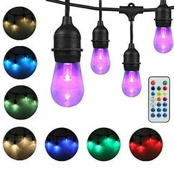 DAKASON LED Color Changing Outdoor String Lights for Patio,