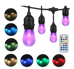 dakason outdoor string lights color changing 48ft