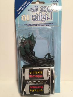 Darice Deco Lights Battery Operated Mini Bulbs with Green Co